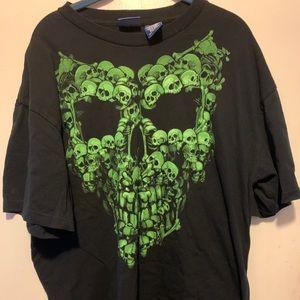 Skeleton XL Green Graphic T-Shirt